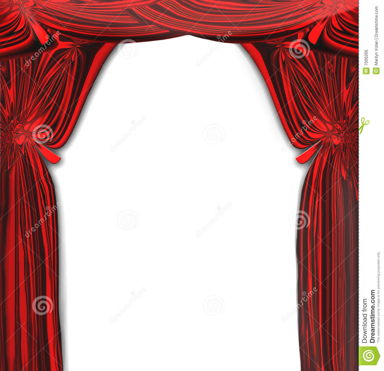 Vector Beautiful Red Drapes Stock Vector Image 7006266