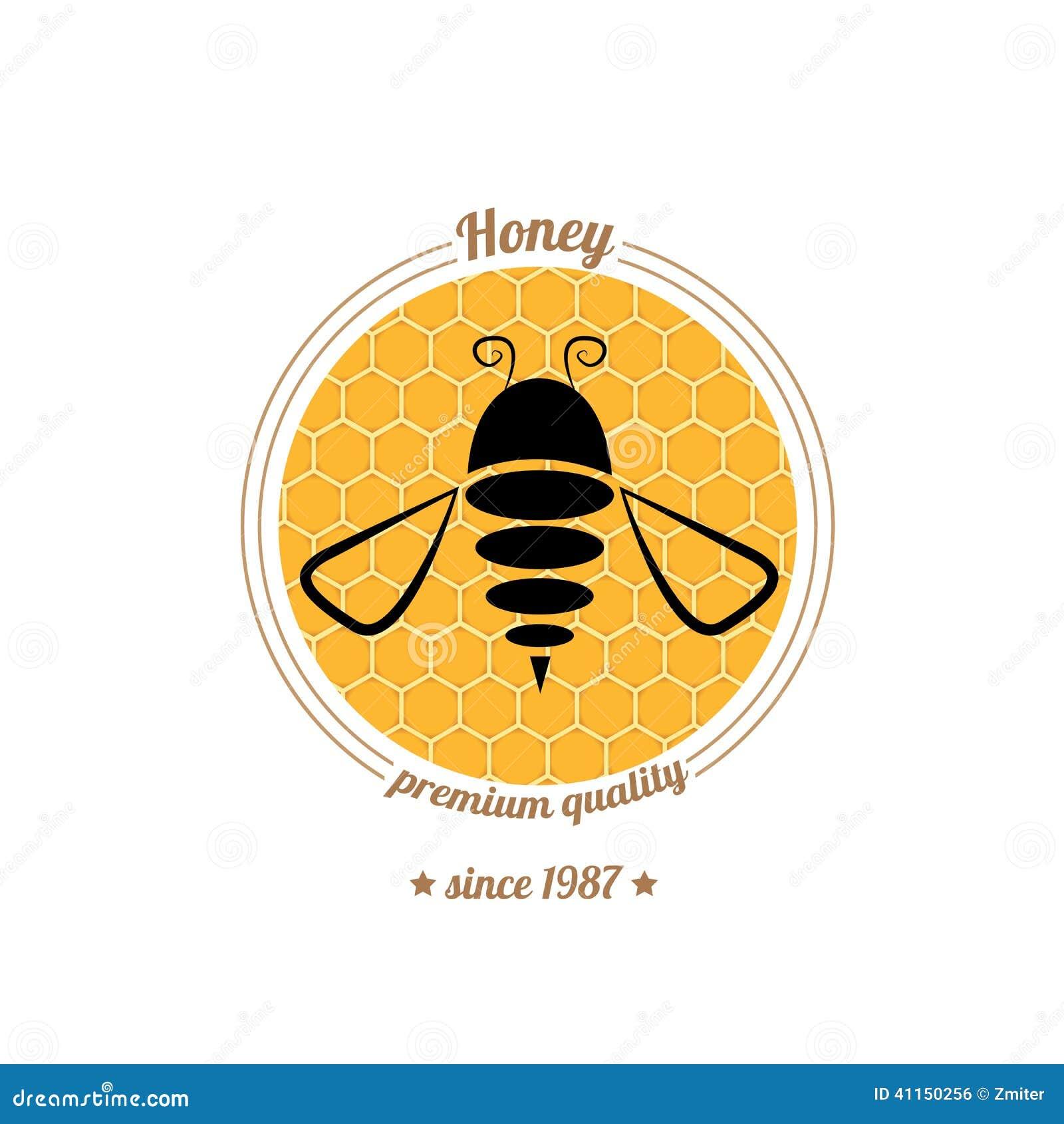 Vector Bee Icon On Hon...