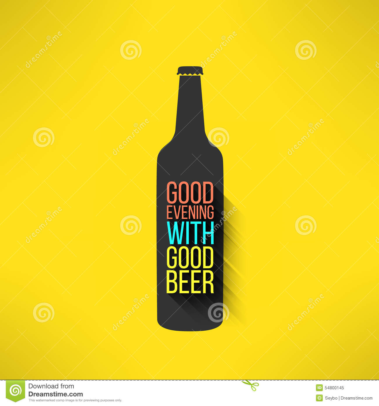 Vector Beer Bottle Design Background With A Cool