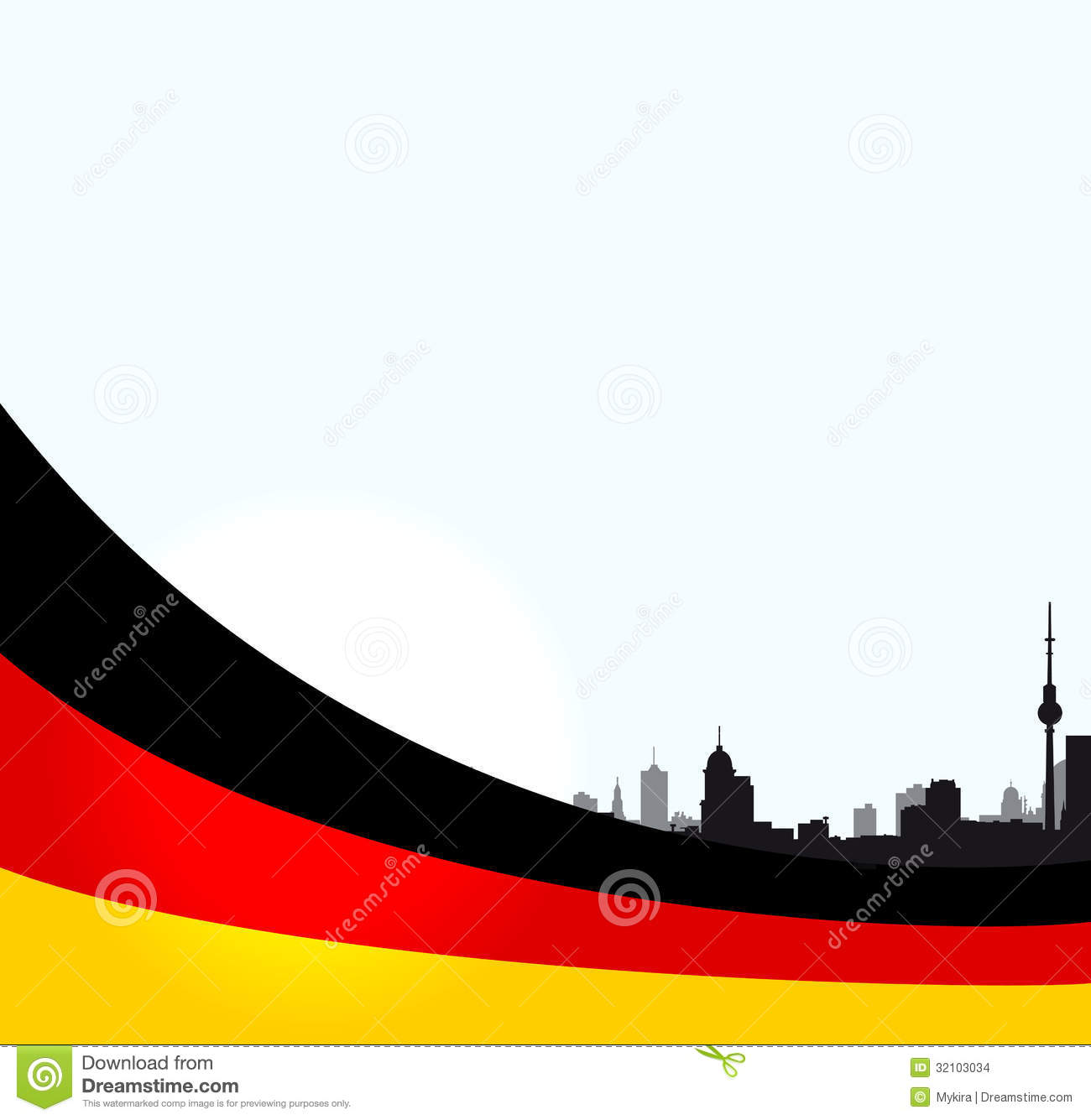 vector berlin illustration with german flag stock images image