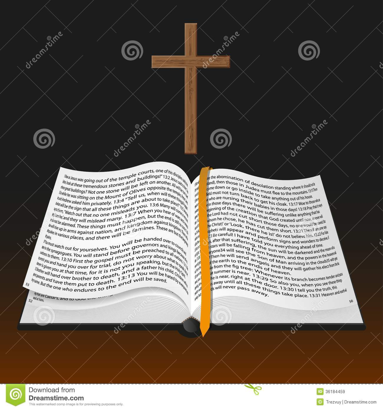 Vintage Leather Look Jeremiah Verse Bible Book Cover Large: Vector Bible With Cross Royalty Free Stock Images