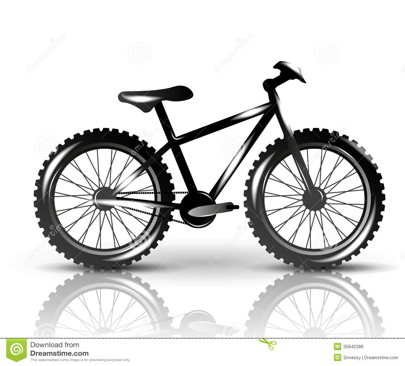 Vector Bike Royalty Free Stock Image - Image: 35842386