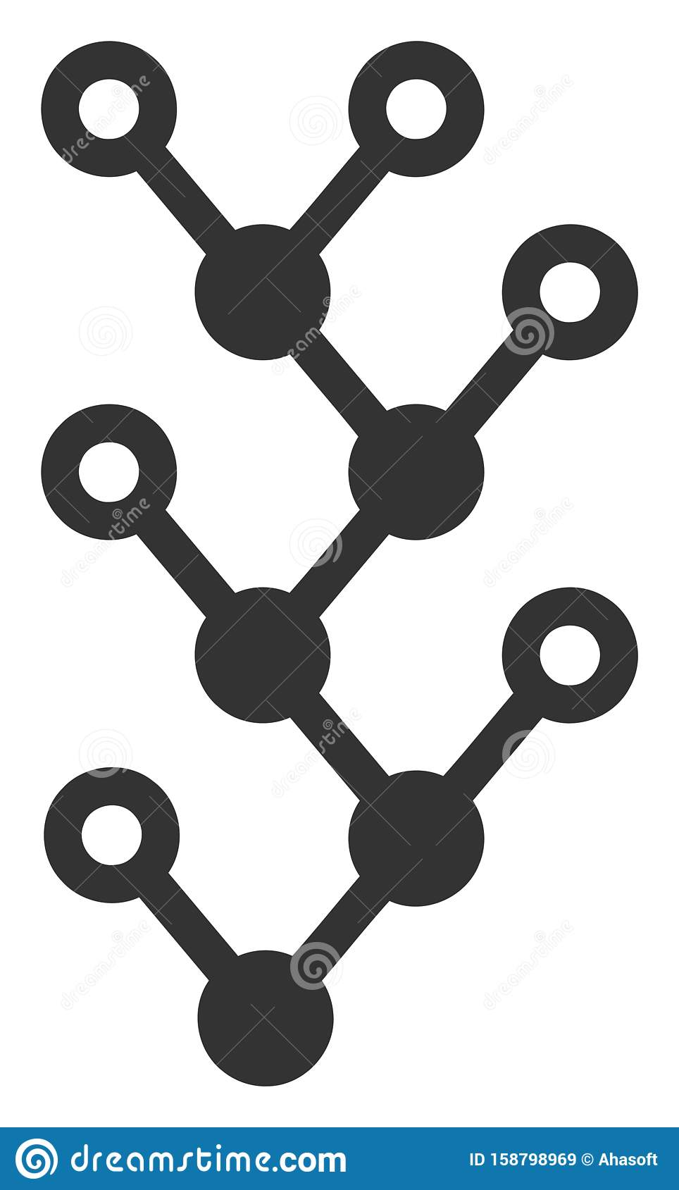 Vector Flat Binary Tree Icon