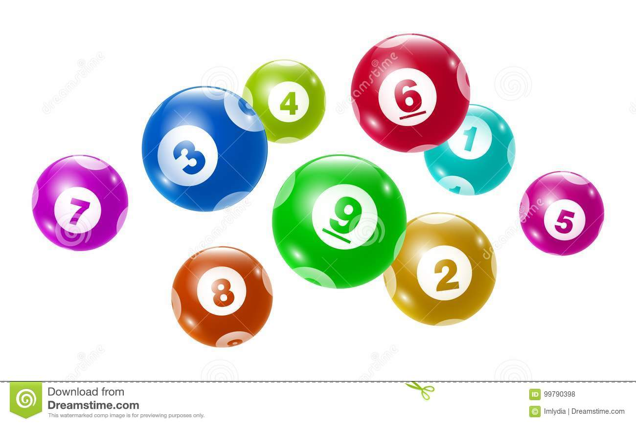 Vector Bingo / Lottery Number Balls Set Stock Vector - Illustration ...