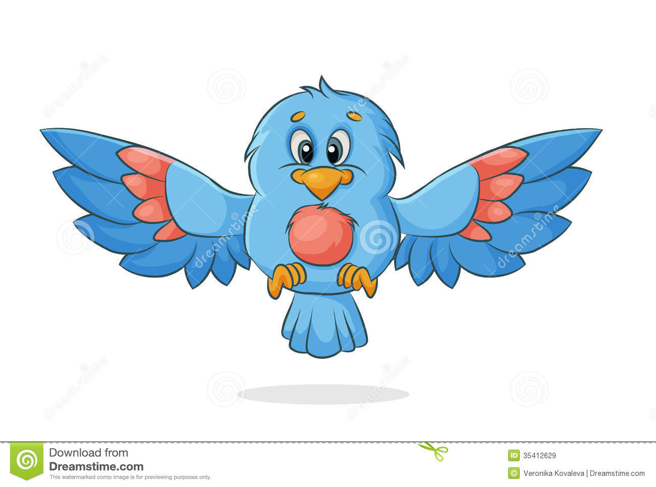 Vector Bird Royalty Free Stock Images - Image: 35412629
