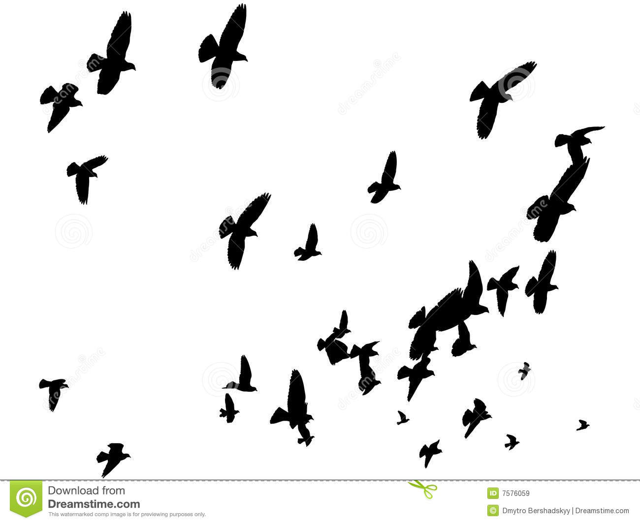 Vector Birds In The Sky - Peace To The World Royalty Free Stock Images ...