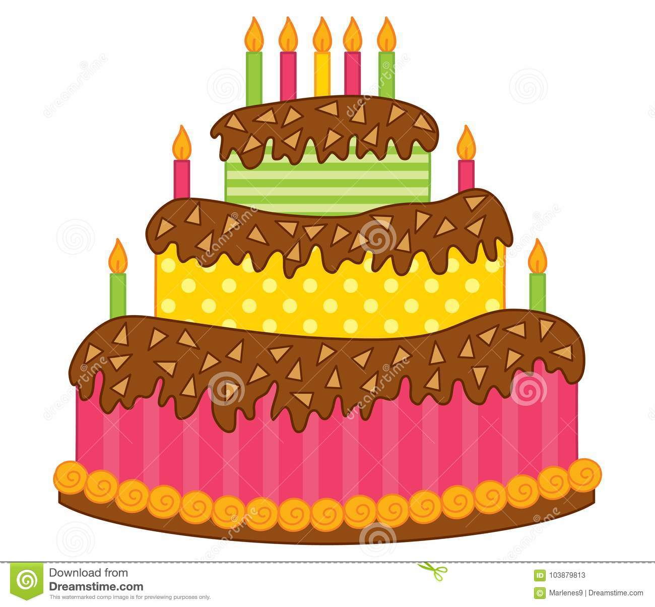 Phenomenal Vector Birthday Cake With Candles Stock Vector Illustration Of Funny Birthday Cards Online Elaedamsfinfo
