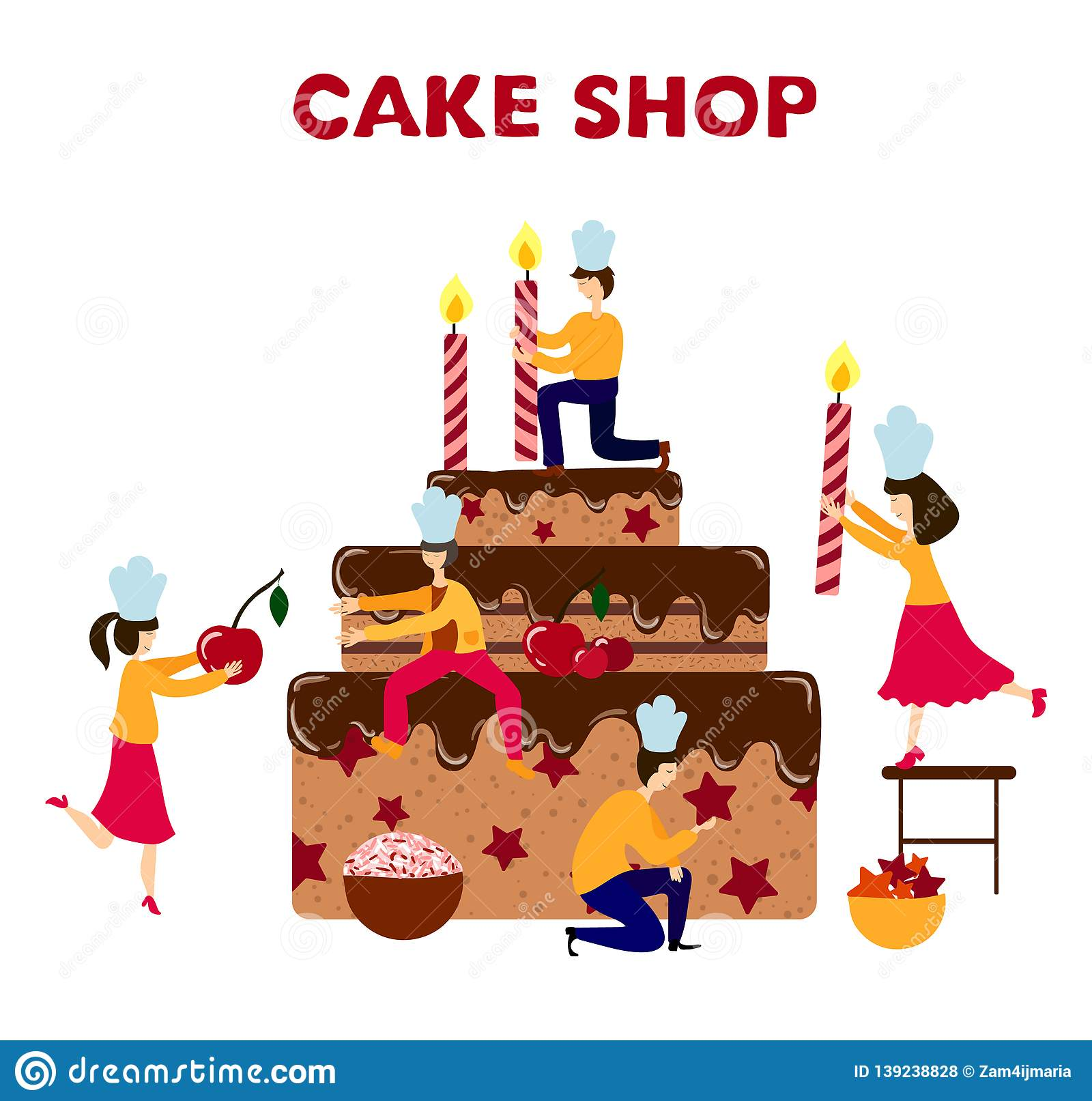 Wondrous Vector Birthday Cake Stock Vector Illustration Of Background Funny Birthday Cards Online Fluifree Goldxyz