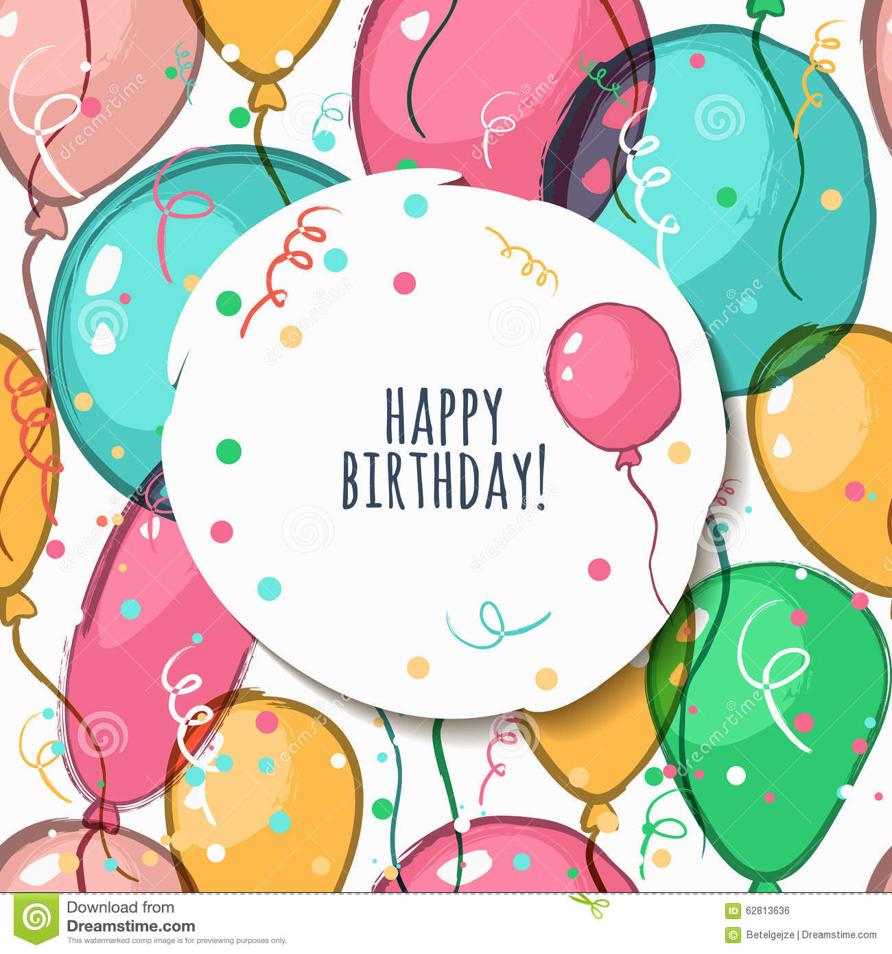 Vector Birthday Card With Seamless Pattern Vector Image – Vector Birthday Card