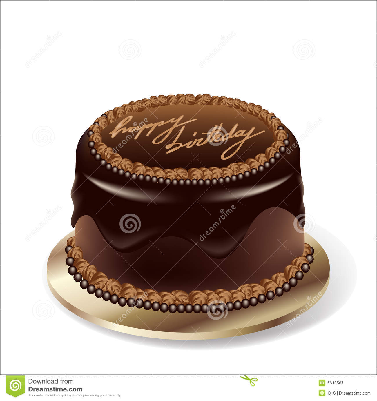 Chocolate Birthday Cake Images Download : Vector Birthday Party Chocolate Cake Stock Vector - Image ...