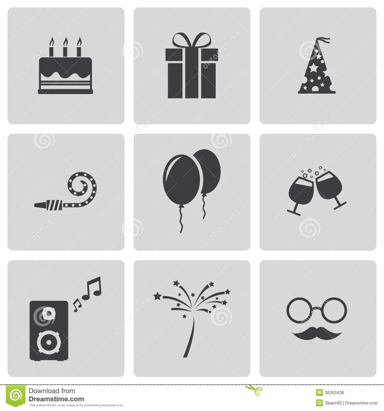 Birthday Cake Vector Black And White