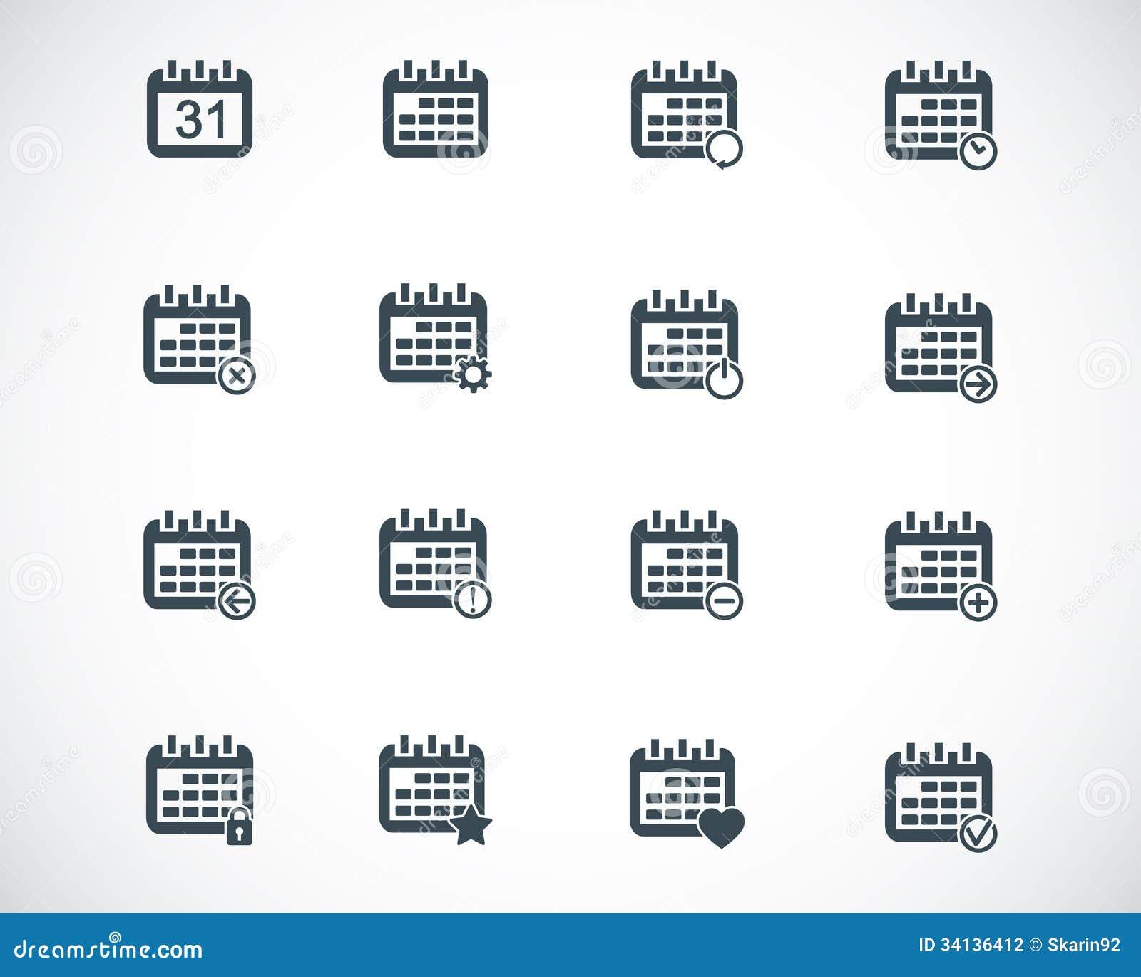 Calendar Icon Vector Black Stock photography: vector black calendar ...