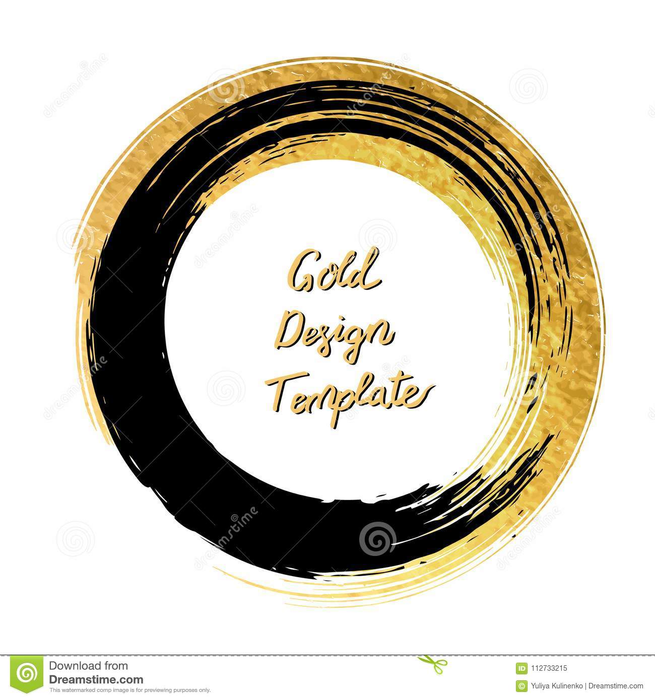 vector black and gold circle design templates for brochures fly