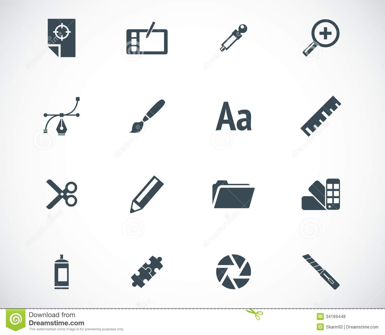 vector black graphic design icons stock illustration