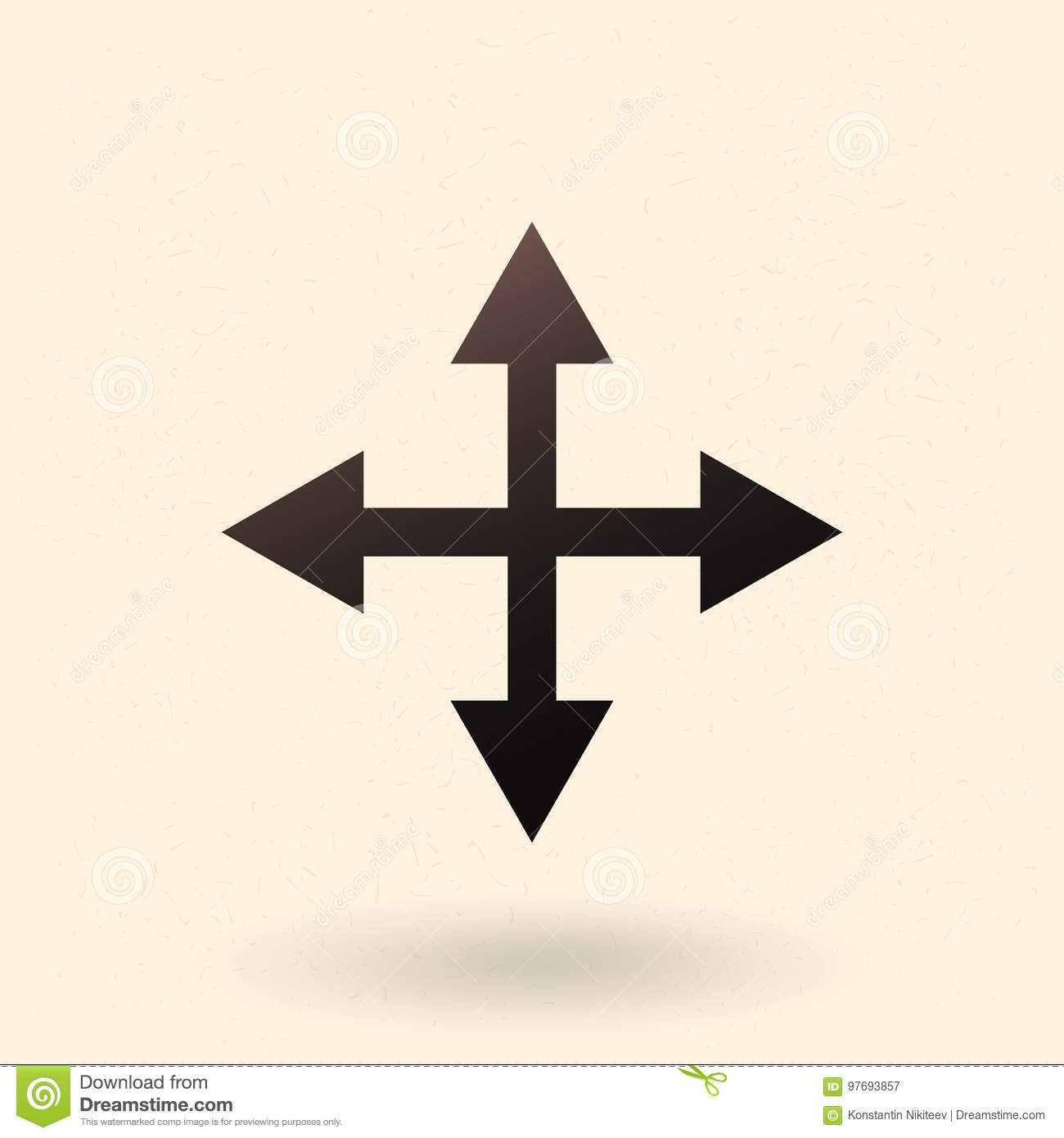 6d7059838706 Vector Icon - Four Way Arrows. Cross Of Arrows. Stock Illustration ...