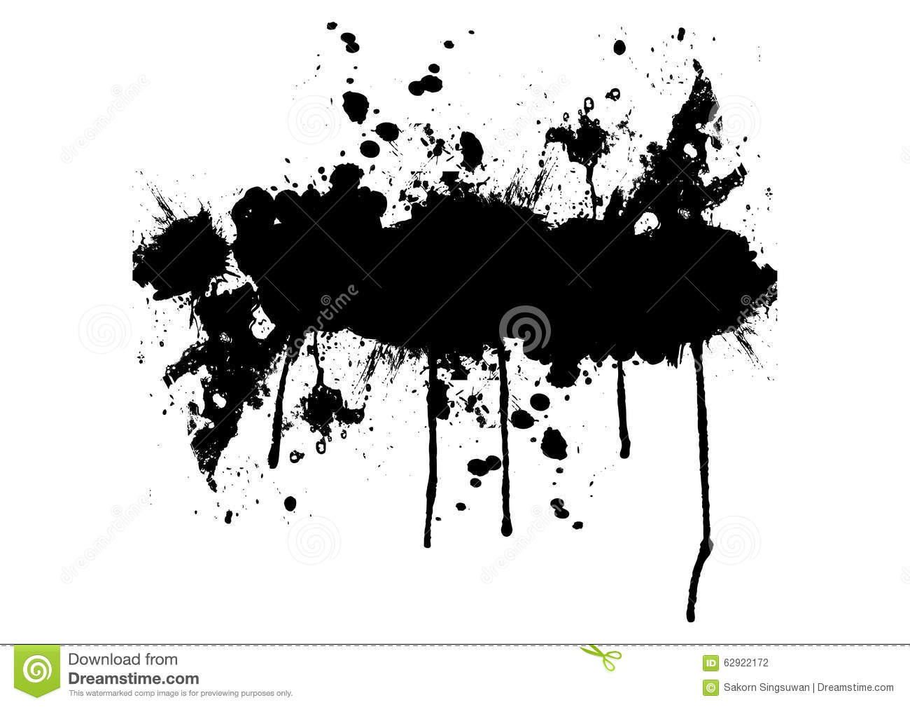 Black Splatter Vector
