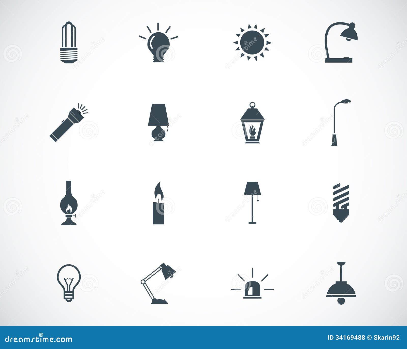 icon lighting. black icons light icon lighting