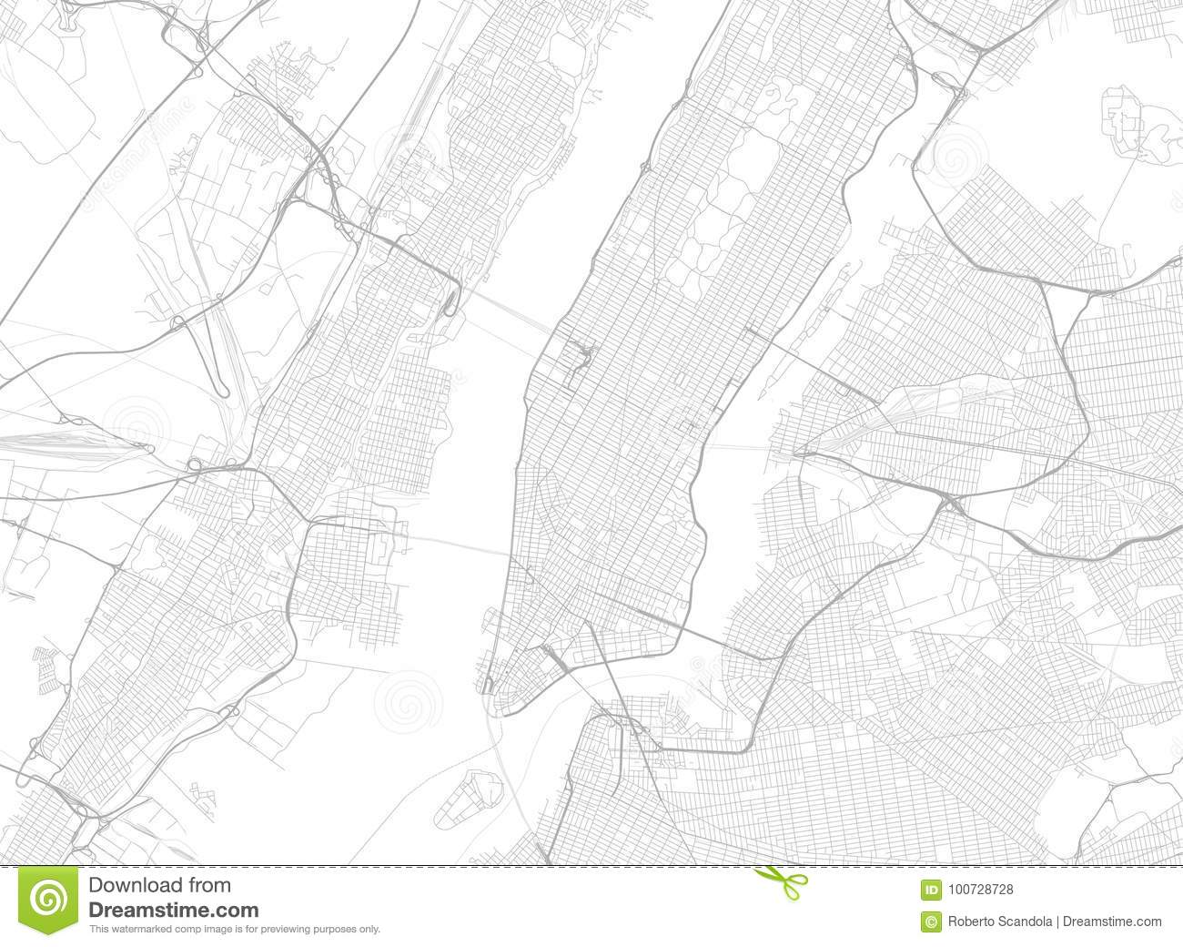 Vector Black Map Of New York Stock Vector Illustration of place