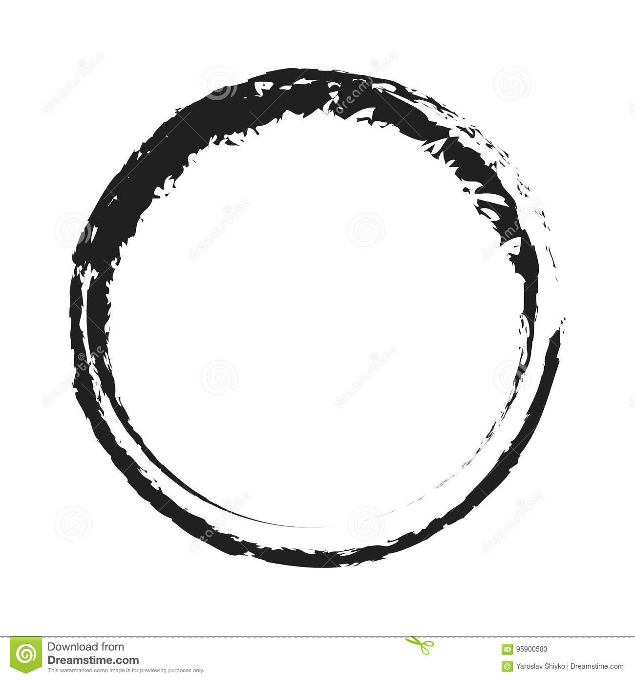 Black Paint Stroke Circle Png