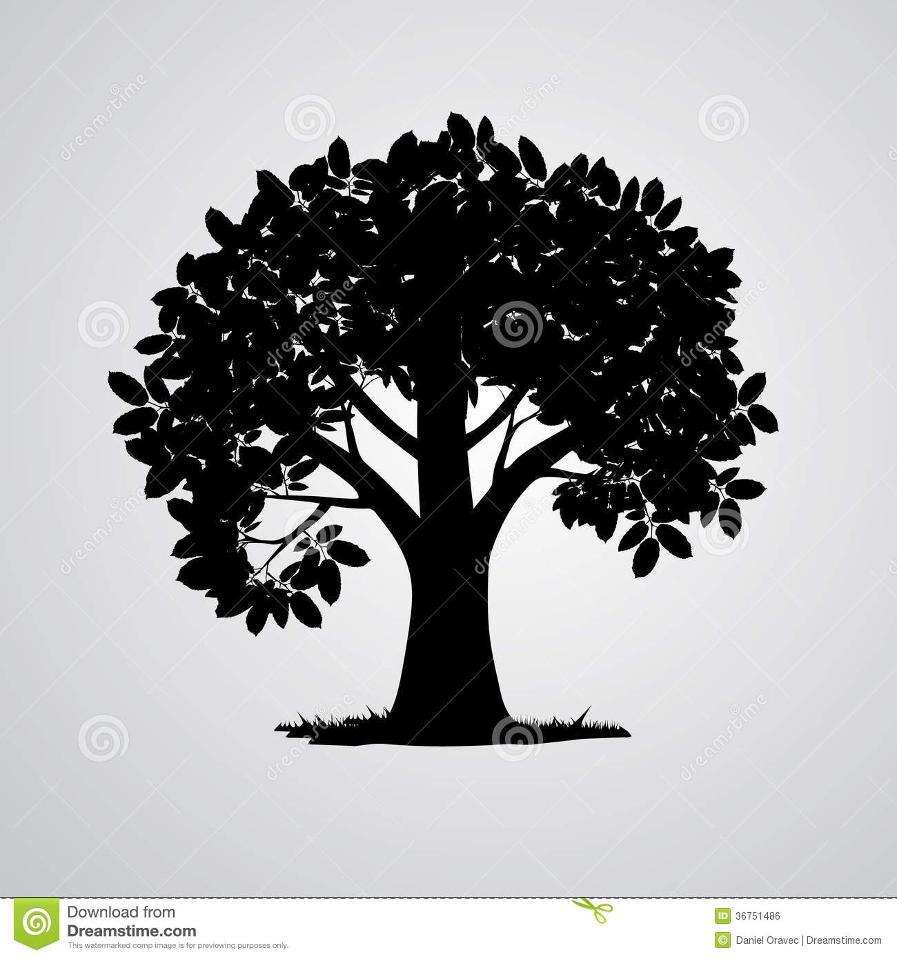 Vector Black Tree Silhouette Royalty Free Stock Image ...