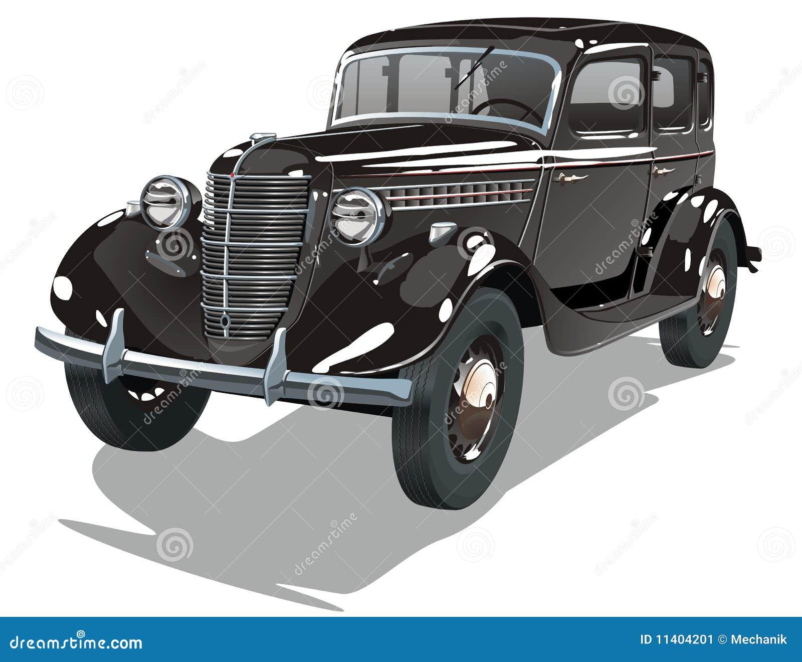Vector Black Vintage Car Stock Image - Image: 11404201