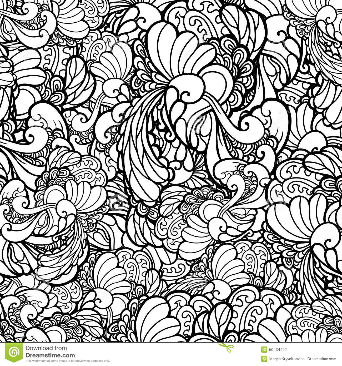 how to create black and white a floral vector