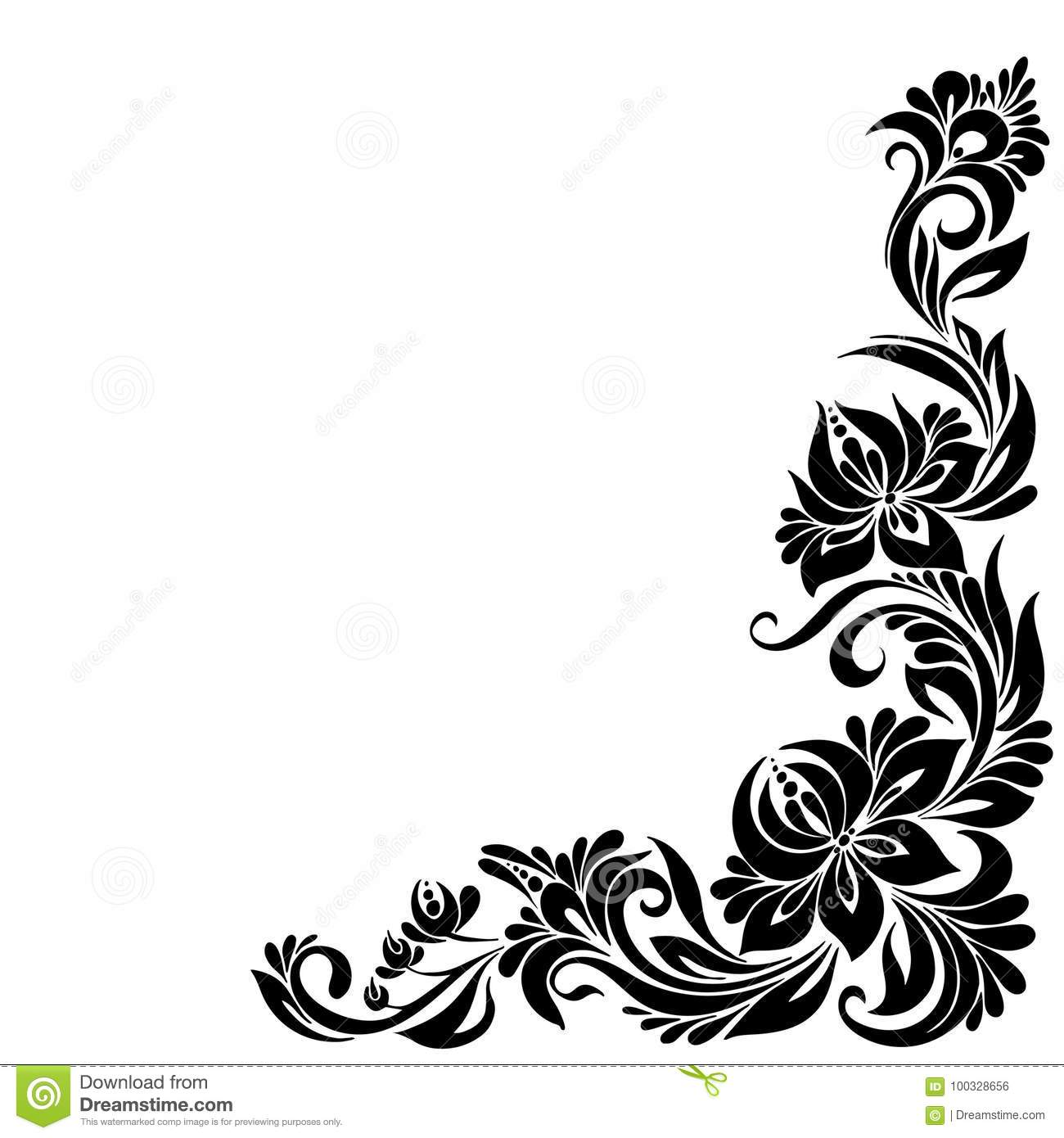 Decorative Corner Frame Stock Vector Illustration Of Illustration