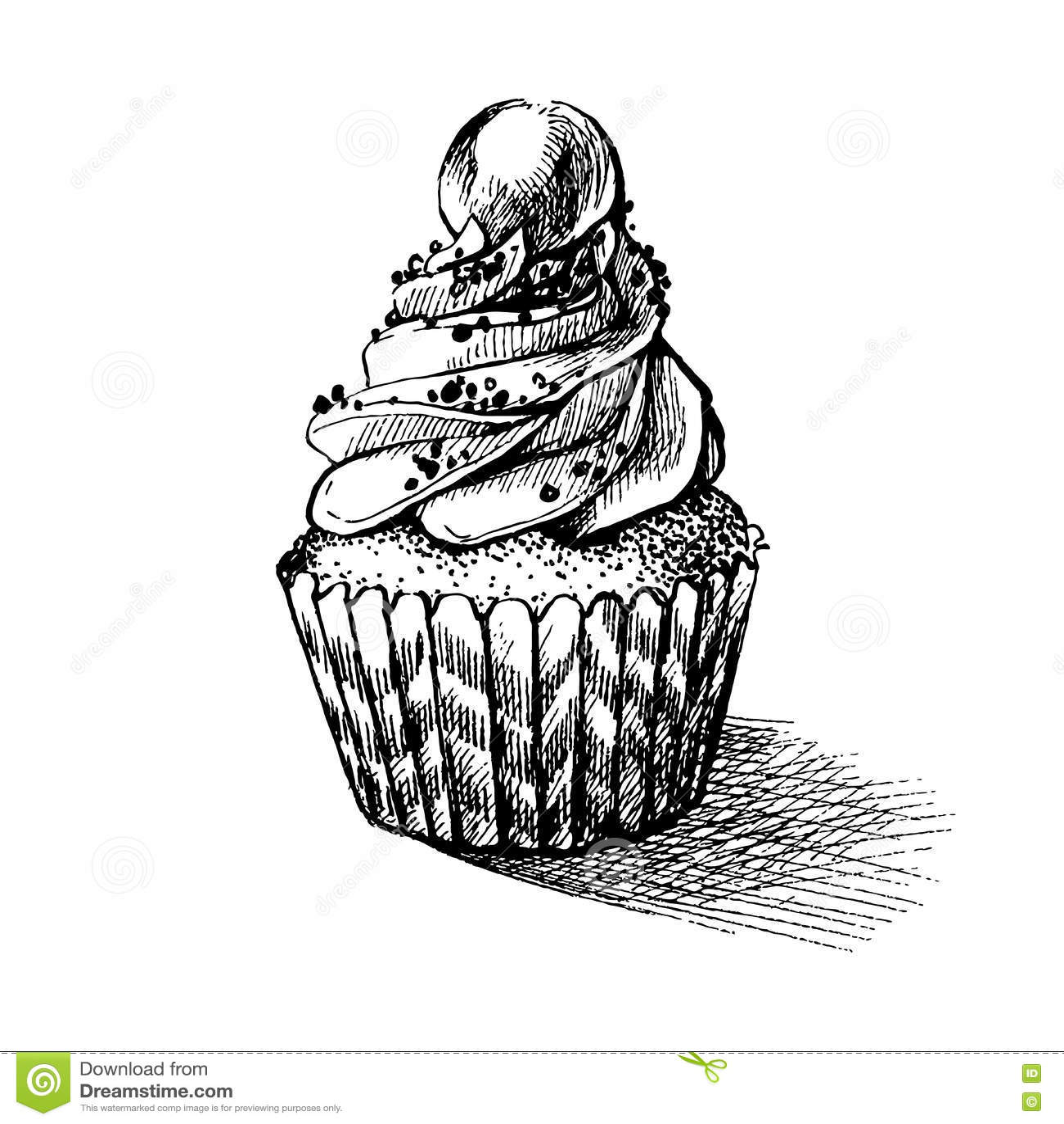 Cake Pencil Sketch