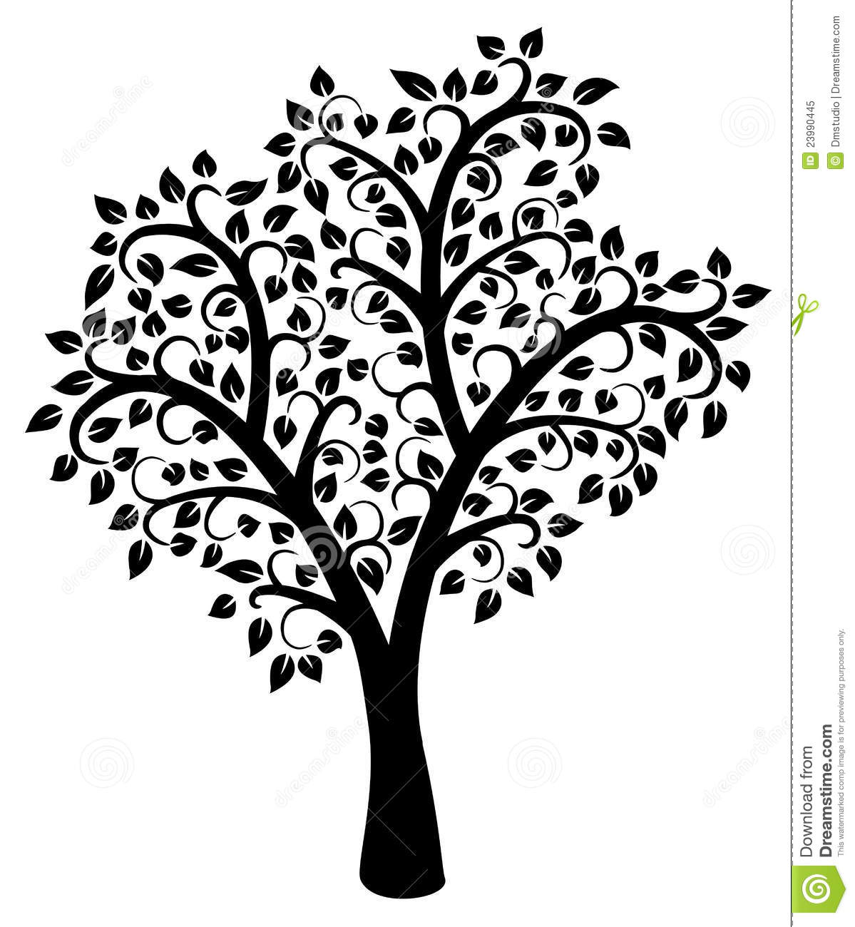 vector black and white tree stock vector illustration of