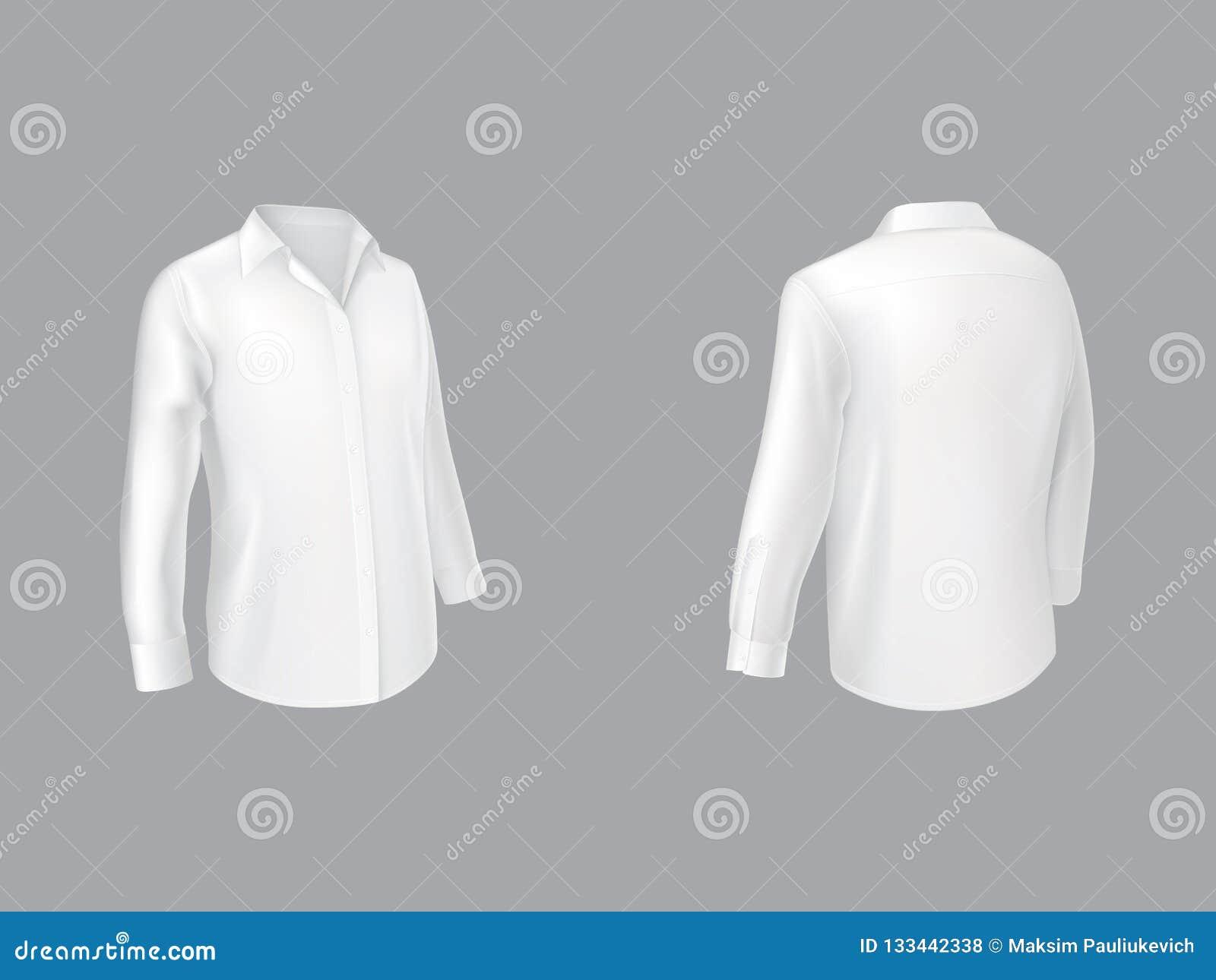 Vector Blanco Clásico De La Vista Lateral De La Camisa Dos