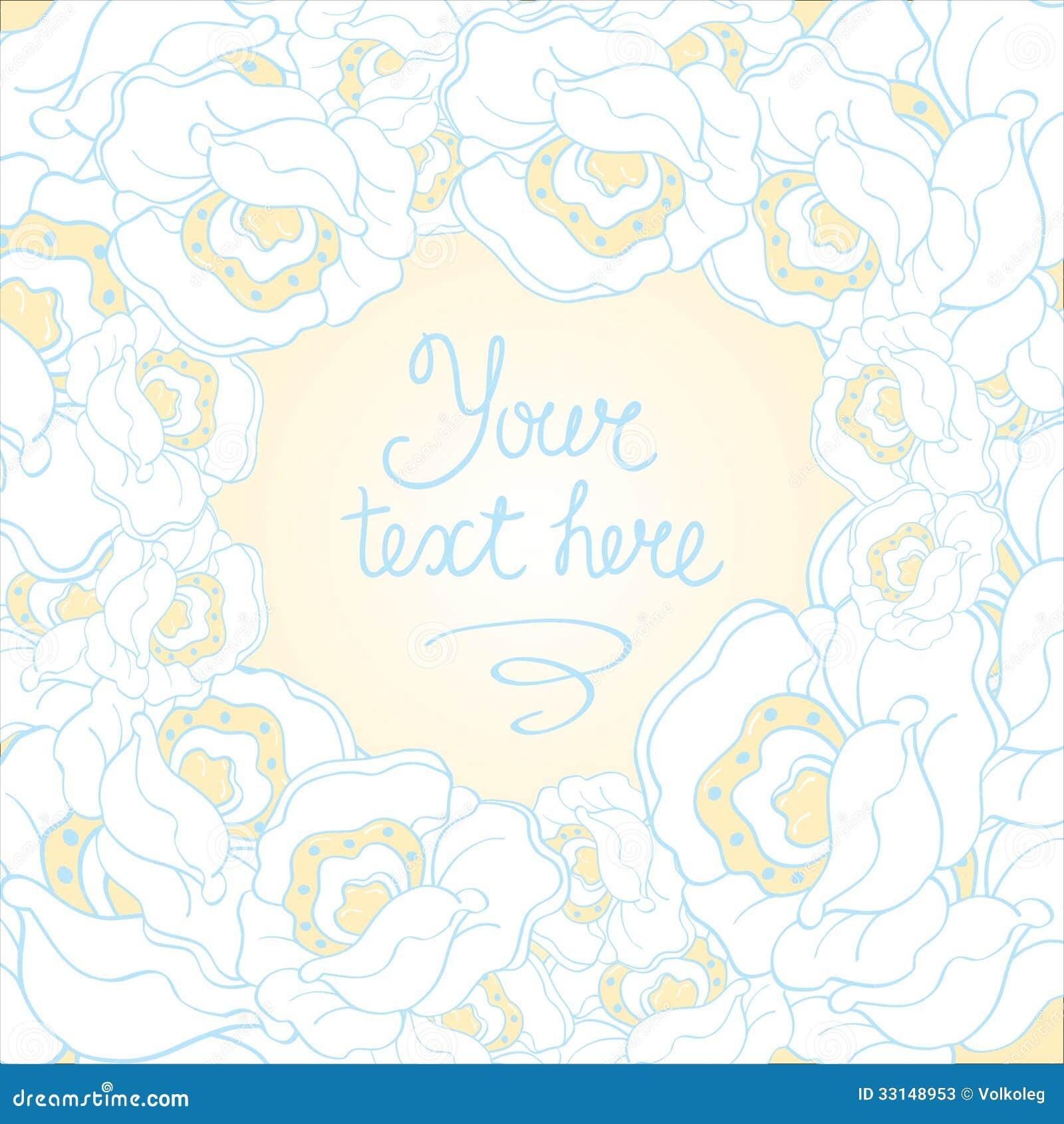 Vector blanco y azul hermoso del fondo de la flor