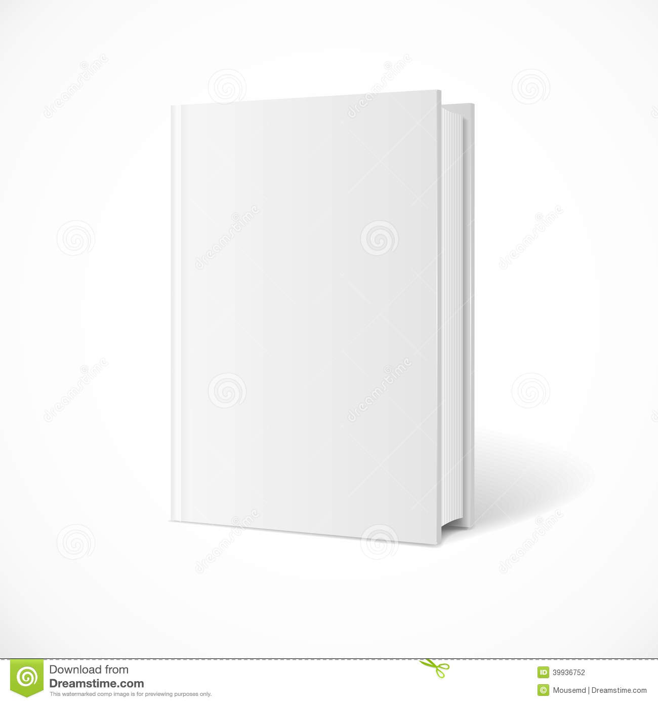 vector blank book cover perspective stock vector illustration of