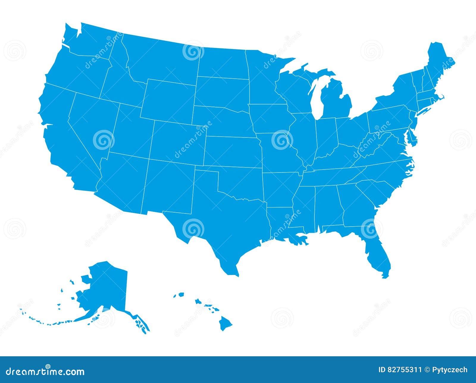 Map Of Usa Vector Priltk - Map usa vector