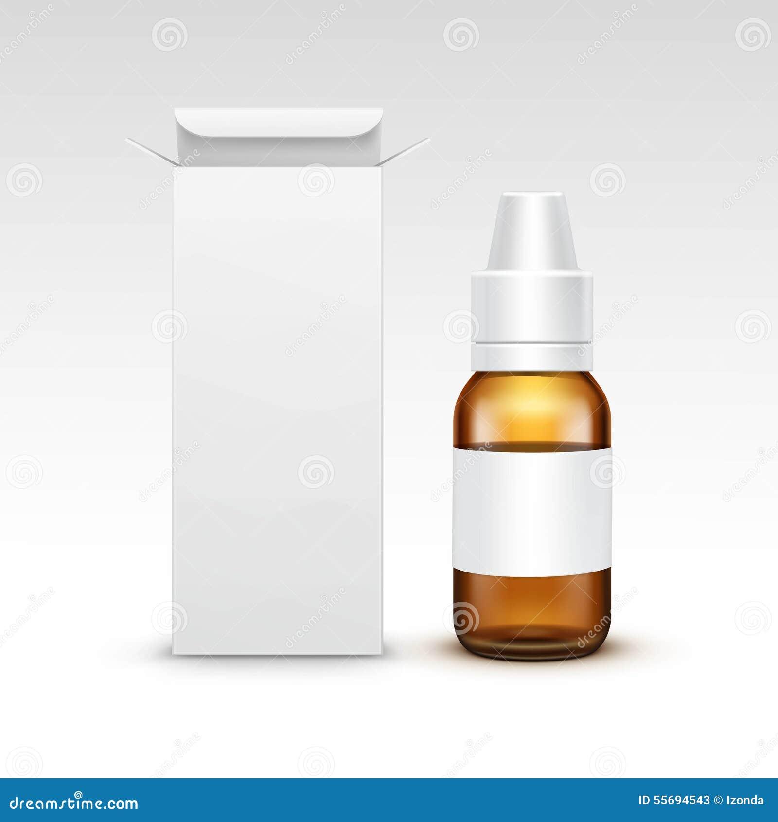 vector blank medicine medical glass spray bottle stock vector