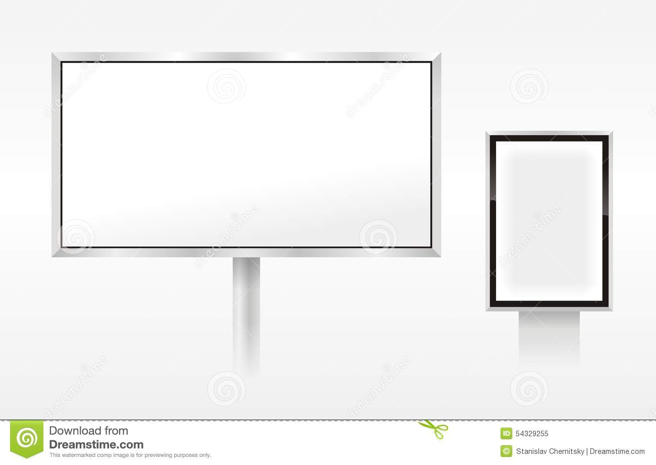 Vector Blank Outdoor Billboards Stock Illustration - Image ...