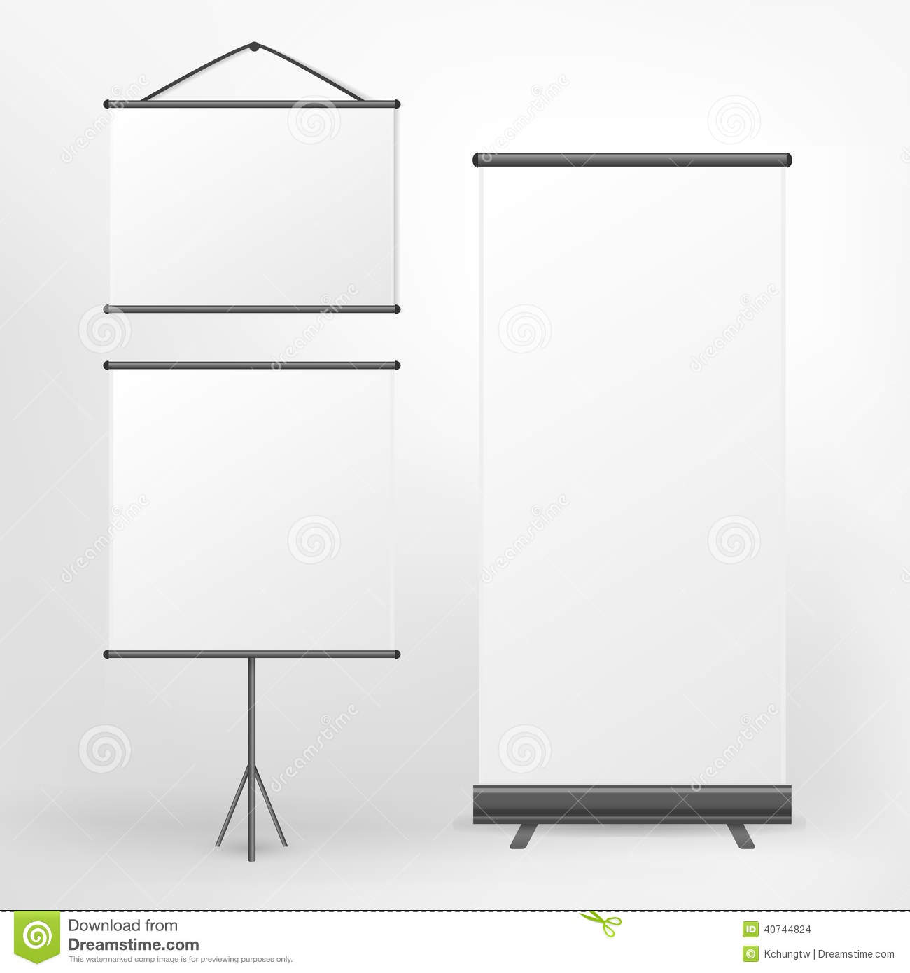 Vector Blank Roll Up Banner And Placard Stock Vector - Image: 40744824