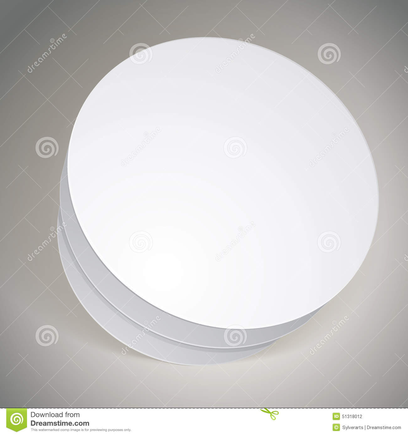 Vector Blank Round Box Template For Your Package Design Put Yo