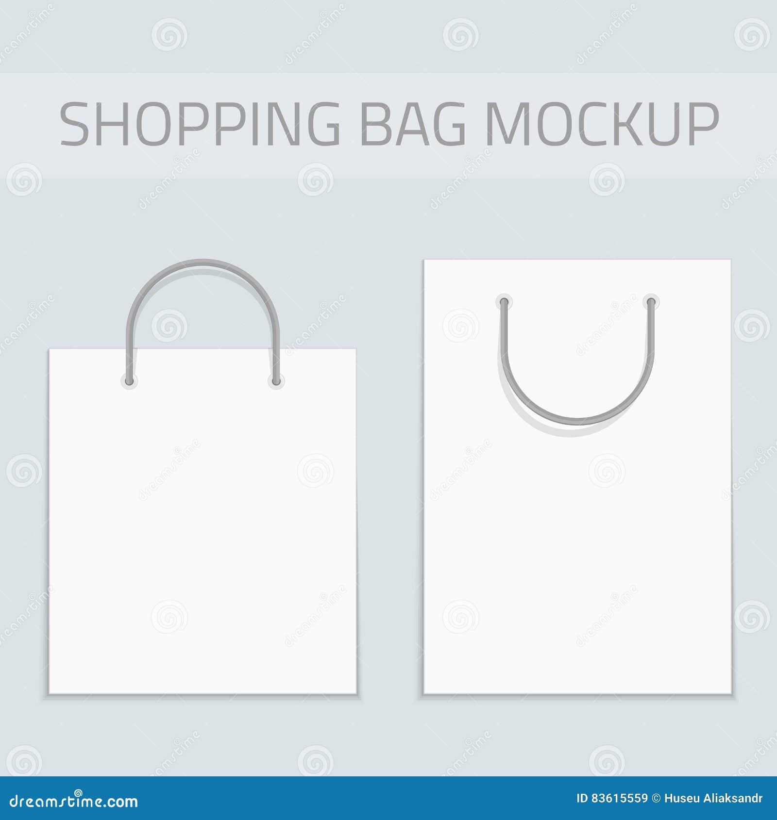 vector blank shopping bag mockup stock vector illustration of