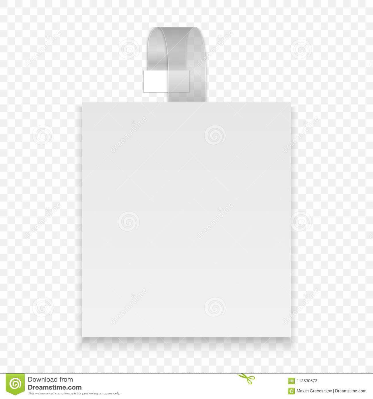 Blank Wobbler Stock Vector Illustration Of Poster Corner 113530673