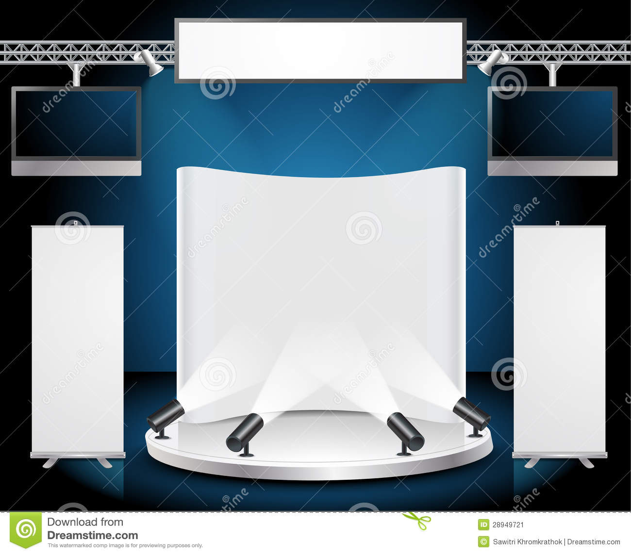 Exhibition Stand Vector : Vector blank trade exhibition stand stock image