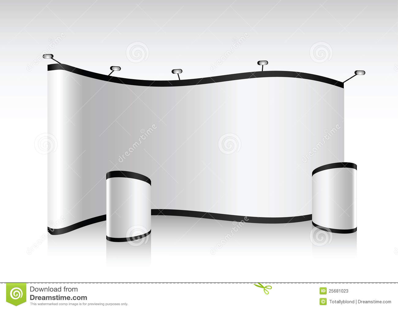 Exhibition Booth Blank : Vector blank trade show booth stock illustration