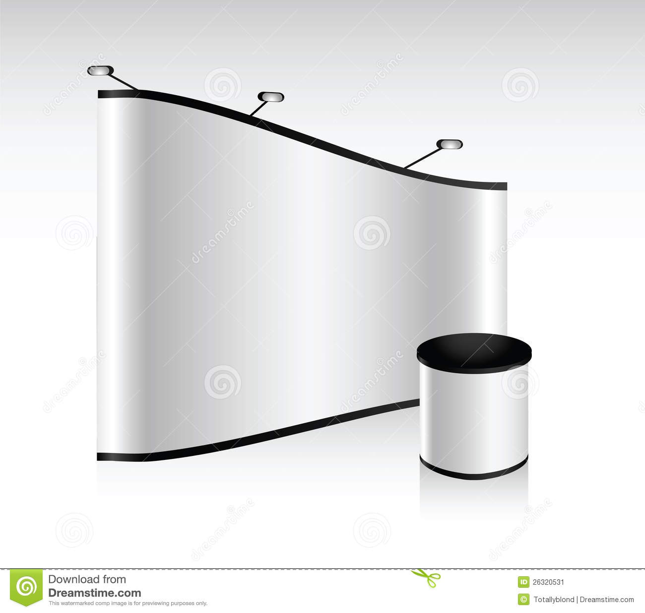 Exhibition Booth Blank : Vector blank trade show booth stock image