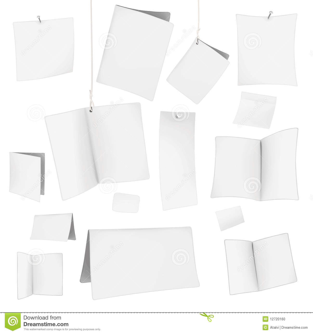 Vector blank white cards