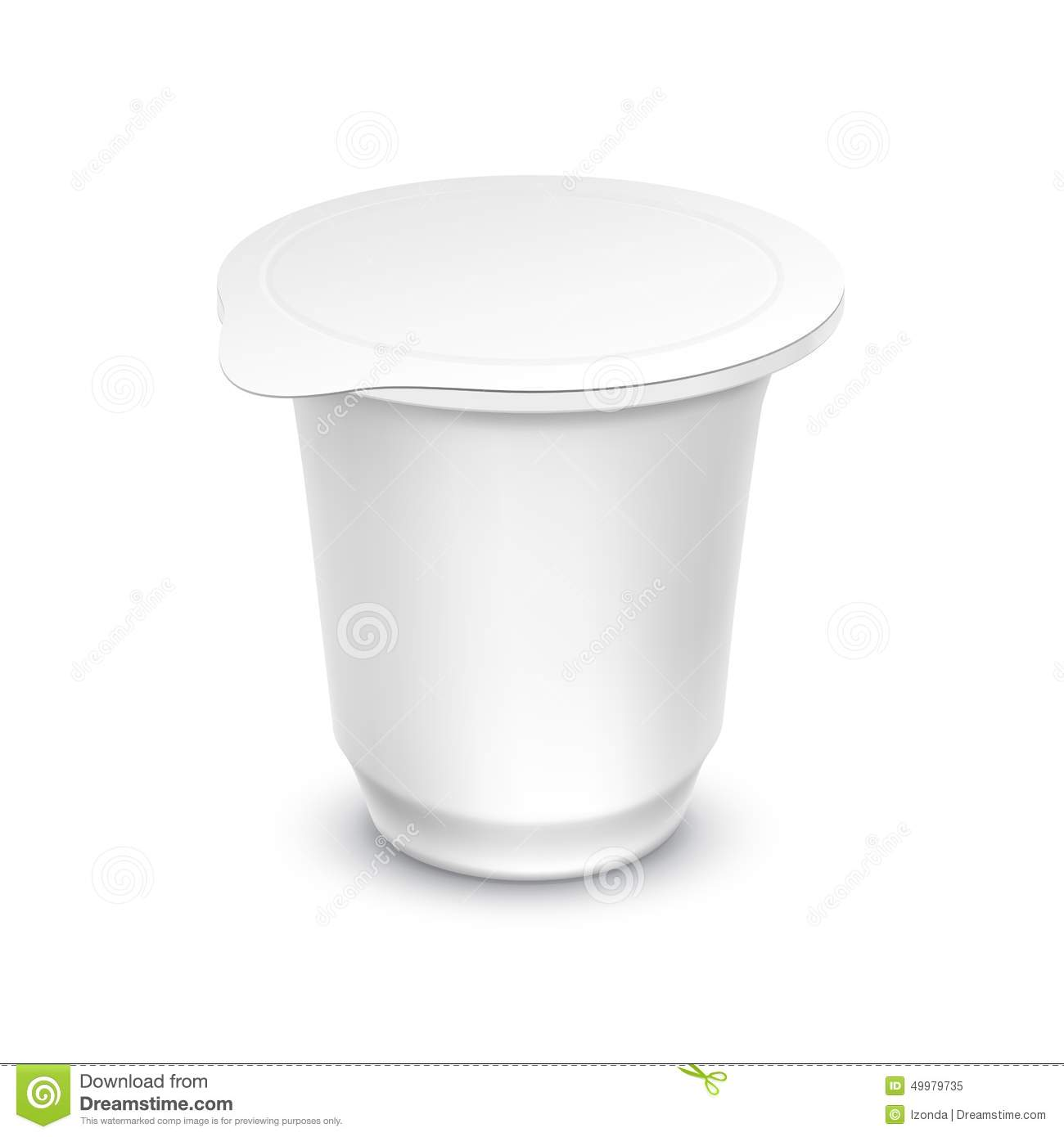 Vector Blank White Packaging Container For Yogurt Stock ...