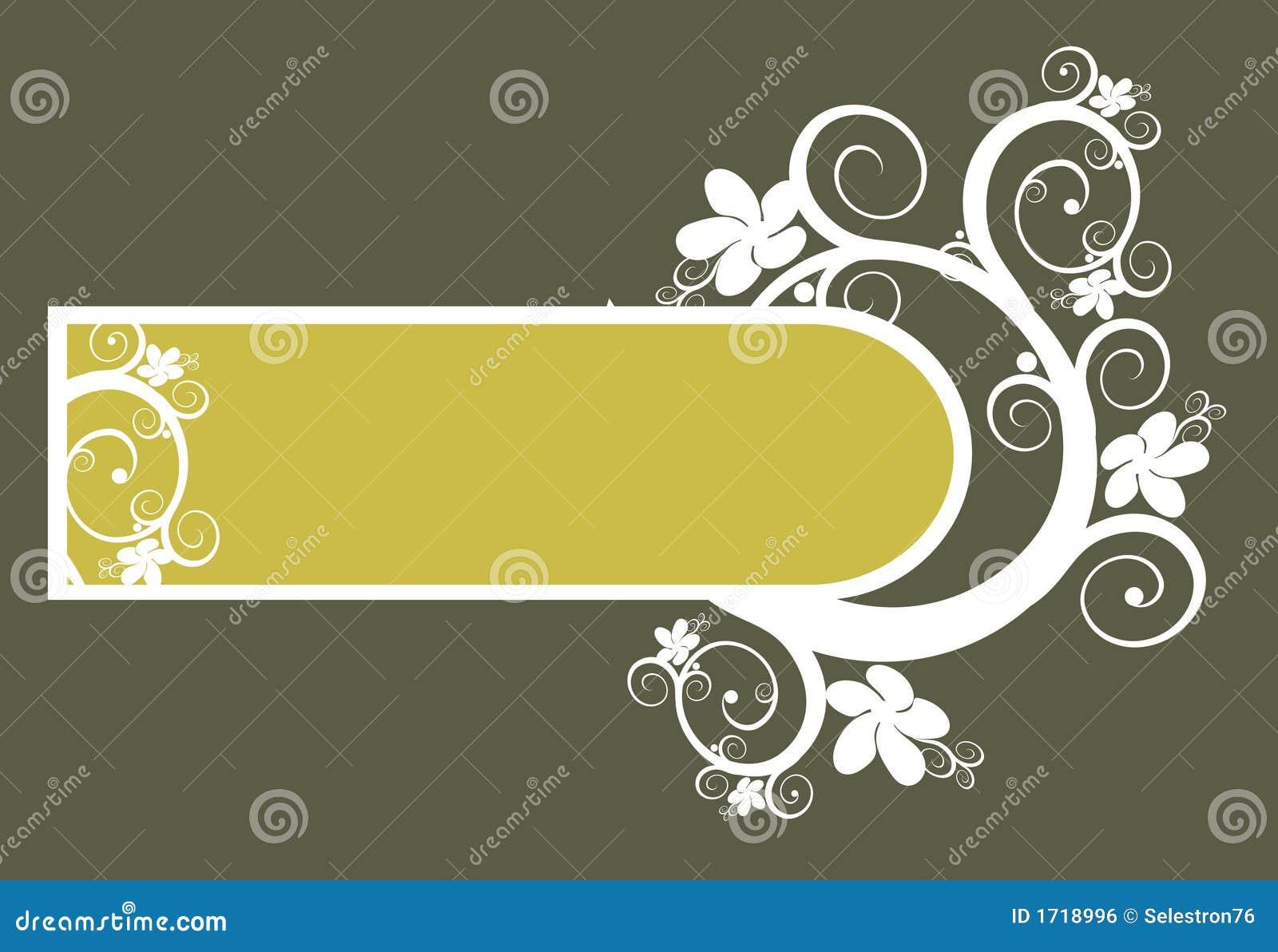 Vector BloemenAchtergrond en frame