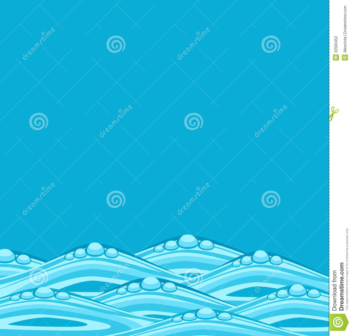vector blue background with ocean waves stock vector illustration