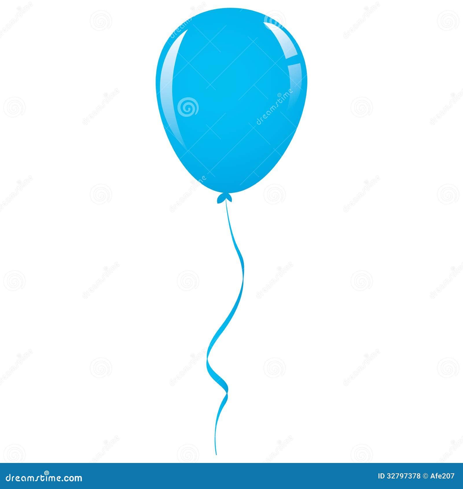 Vector Blue Balloon Ribbon Stock Vector Image Of Marriage
