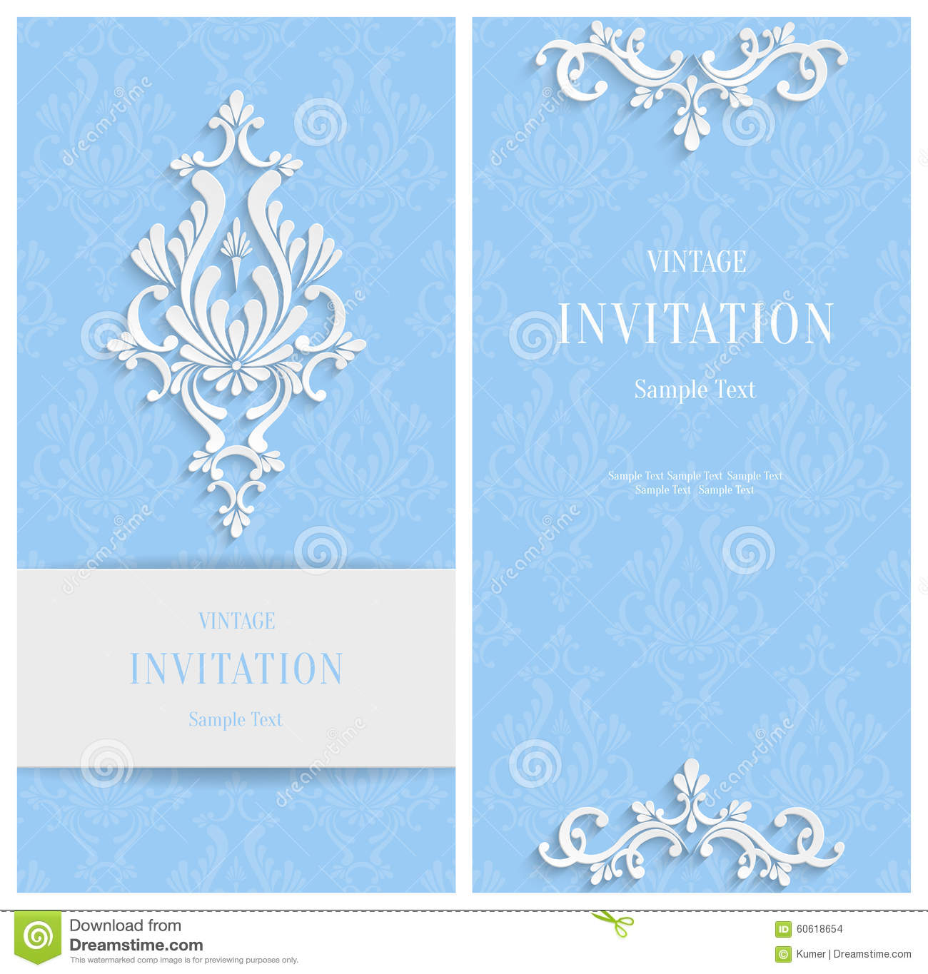 vector blue floral d background template for christmas vector blue floral 3d background template for christmas and invitation cards stock images