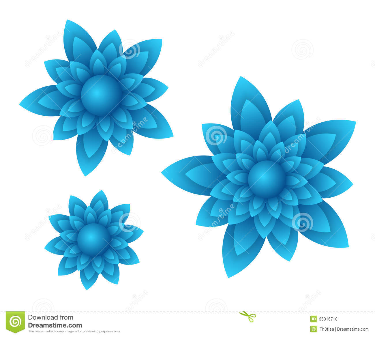 Beautiful Light Blue Bedrooms: Vector Blue Flowers Stock Vector. Image Of Happy, Colorful