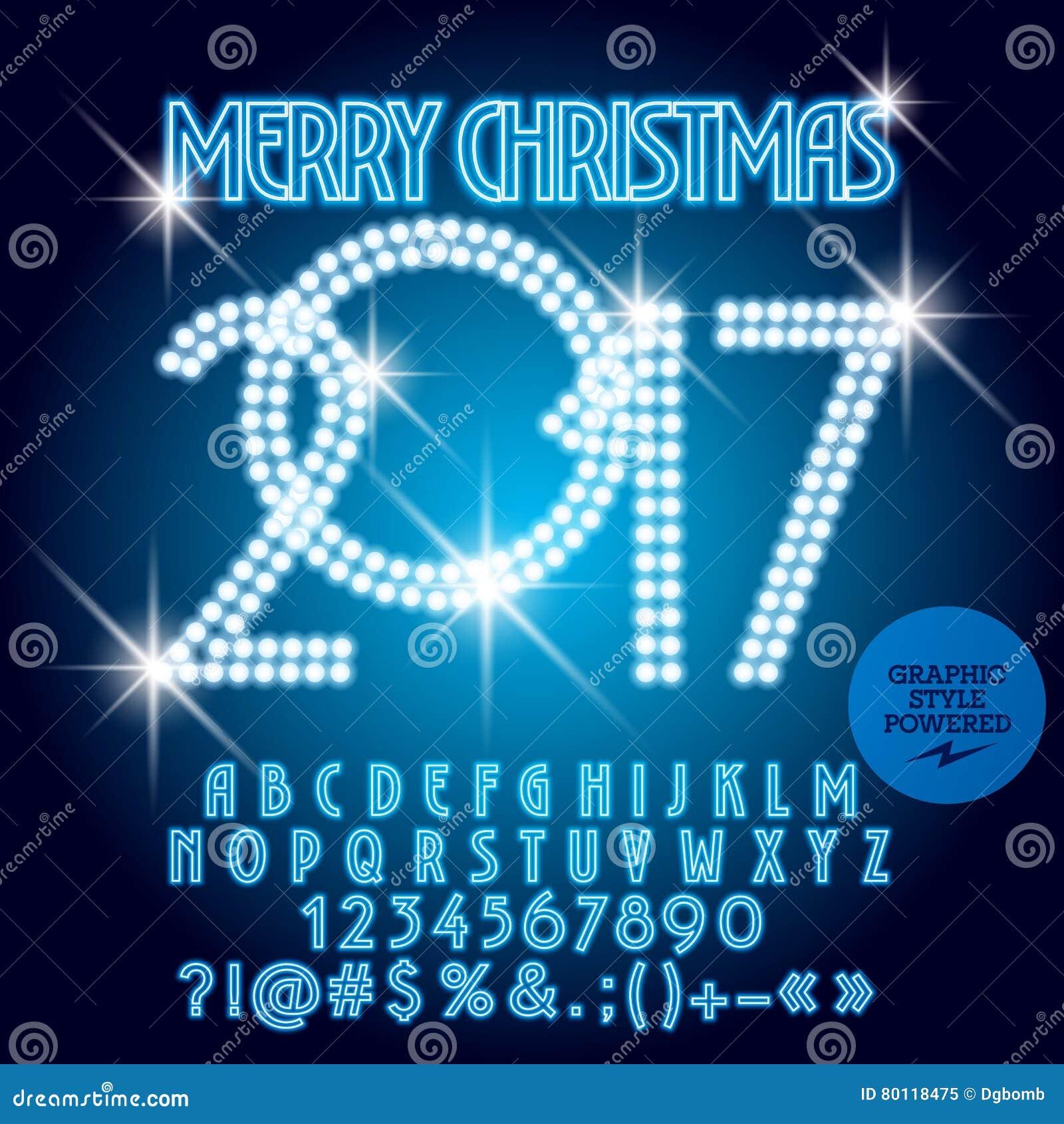 Vector blue light up merry christmas 2017 greeting card stock vector download vector blue light up merry christmas 2017 greeting card stock vector illustration of alphabet m4hsunfo